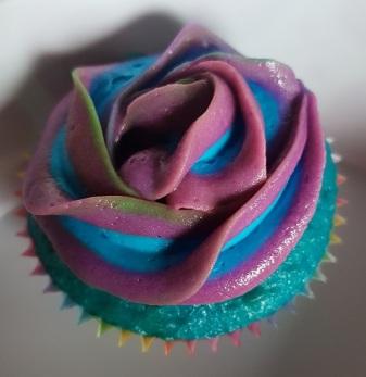 Blue Green Purple Swirl Cupcakes (3)