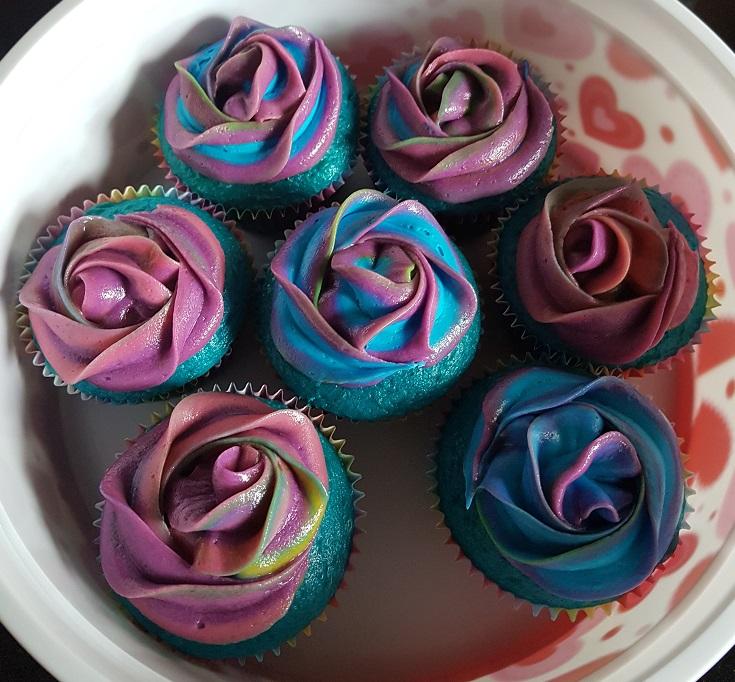 Blue Green Purple Swirl Cupcakes (4)