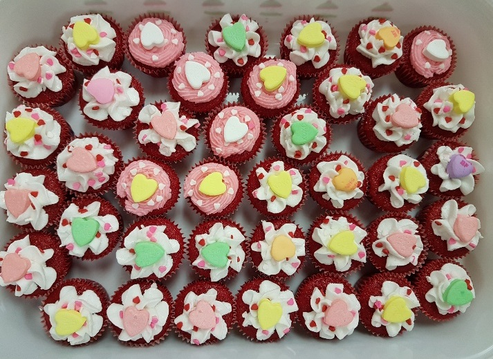Daycare Valentines Day Cupcakes 2018