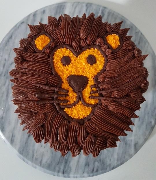 Lion face Cake (3)