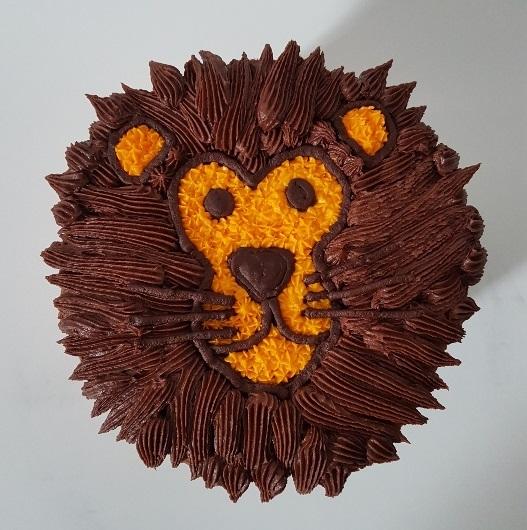 Lion face Cake (4)