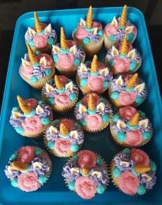 Pink, Purple, Teal Unicorn Cupcakes (6)