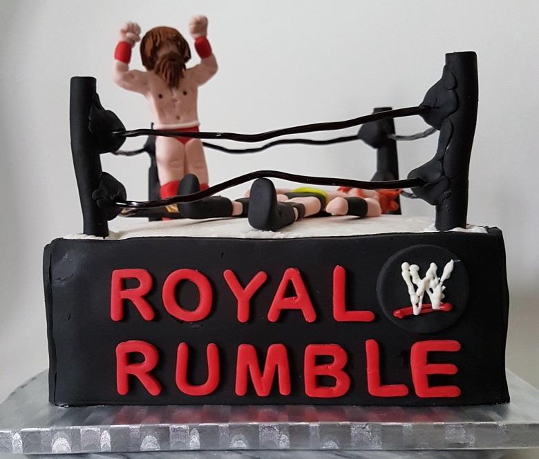 Royal Rumble Wrestling cake Jan 2018 (1)