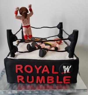 Royal Rumble Wrestling cake Jan 2018 (2)