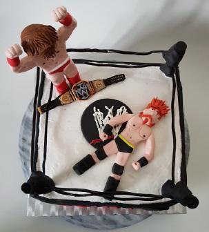 Royal Rumble Wrestling cake Jan 2018 (3)