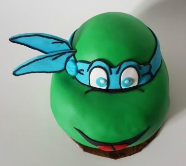 Teenage Mutant Ninja Turtle Cake - Fondant - Leonardo Mar 2018 (6)
