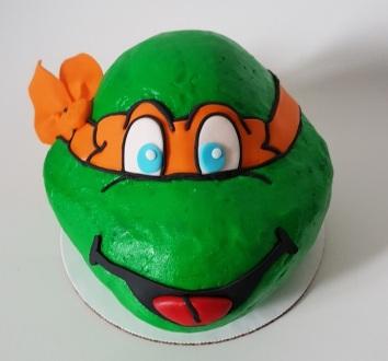 Teenage Mutant Ninja Turtle Cake - Icing - Michelangelo (1)