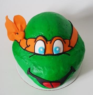 Teenage Mutant Ninja Turtle Cake - Icing - Michelangelo (2)