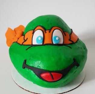 Teenage Mutant Ninja Turtle Cake - Icing - Michelangelo (3)