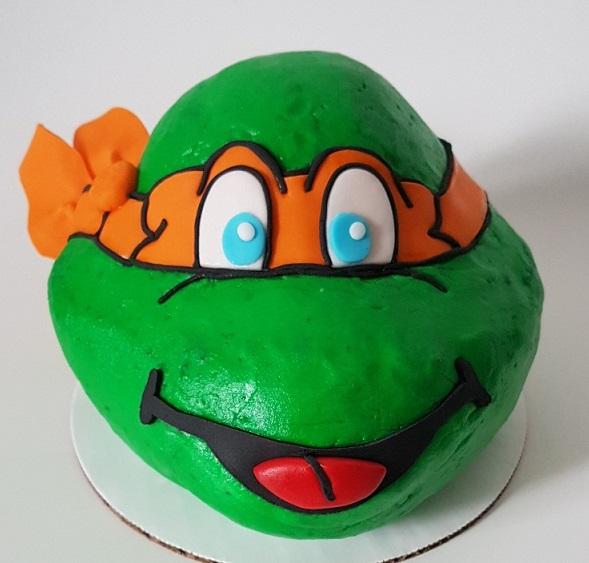Teenage Mutant Ninja Turtle Cake - Icing - Michelangelo (4)