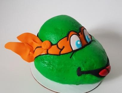 Teenage Mutant Ninja Turtle Cake - Icing - Michelangelo (5)