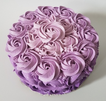 Purple Ombre Rosette Cake - May 2018 (1)