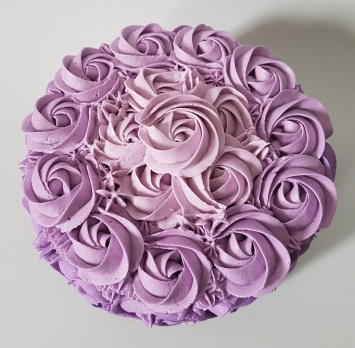 Purple Ombre Rosette Cake - May 2018 (3)