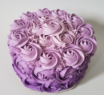 Purple Ombre Rosette Cake - May 2018 (4)