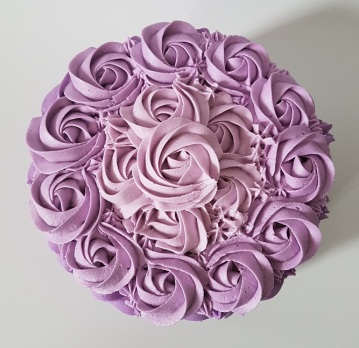 Purple Ombre Rosette Cake - May 2018 (5)