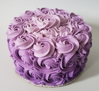 Purple Ombre Rosette Cake - May 2018 (6)