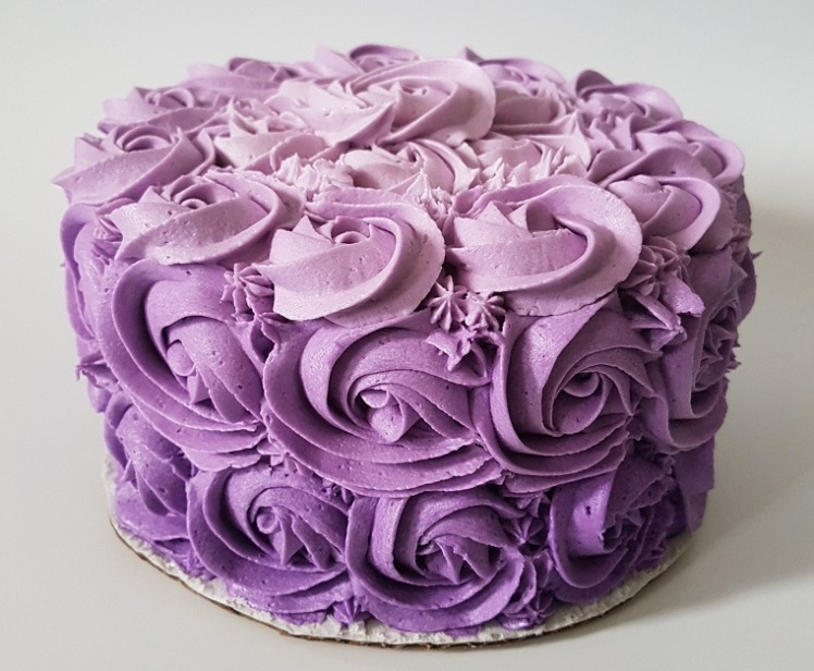 Purple Ombre Rosette Cake - May 2018 (7)