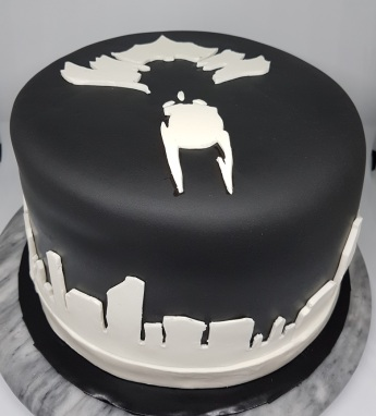 Black White Batman Cake - Vik BDay (2)