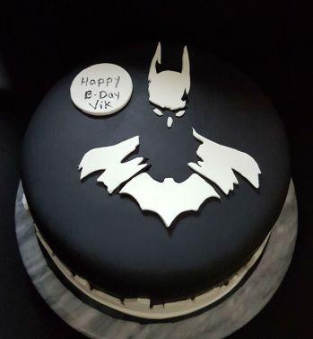 Black White Batman Cake - Vik BDay (4)