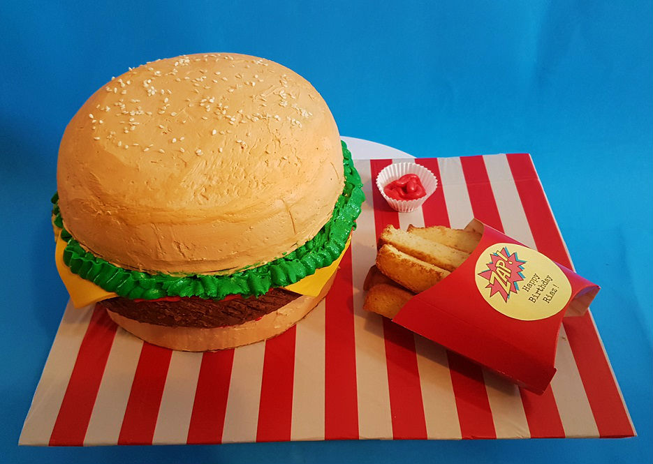 Fabulous Hamburger Fries Birthday Cake You Got Baked Funny Birthday Cards Online Inifofree Goldxyz
