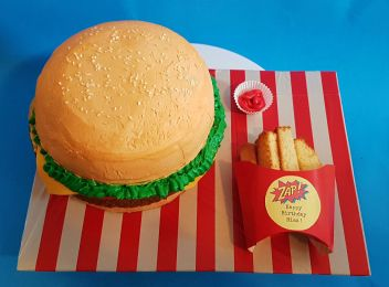 Burger Fries Cake - Nov 2018 (5)