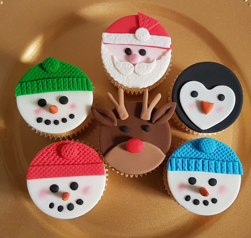 Christmas Character Cupcakes - Dec 2018 (1)