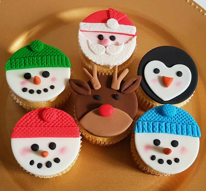 Christmas Character Cupcakes - Dec 2018 (2)