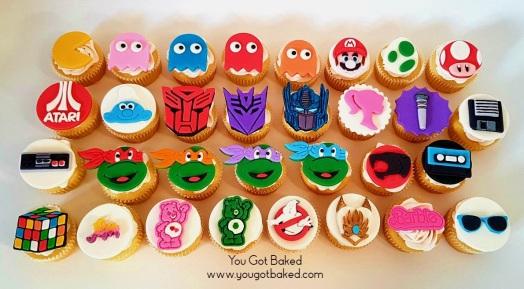 80s Cupcakes Complete (3) - N