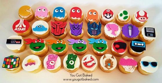 80s Cupcakes Complete (4) - N