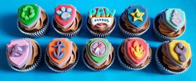Paw Patrol Badge Cupcakes - Jan 2019 (1)
