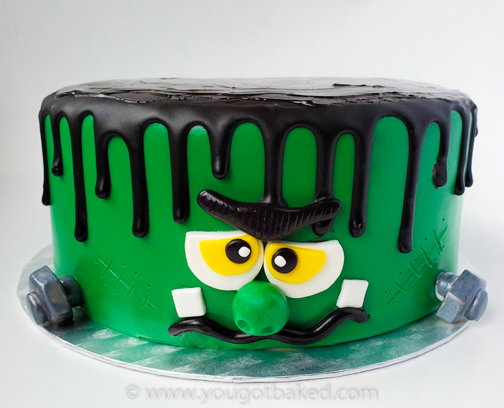 Frankenstein Drip Cake - Oct 2019 (4)