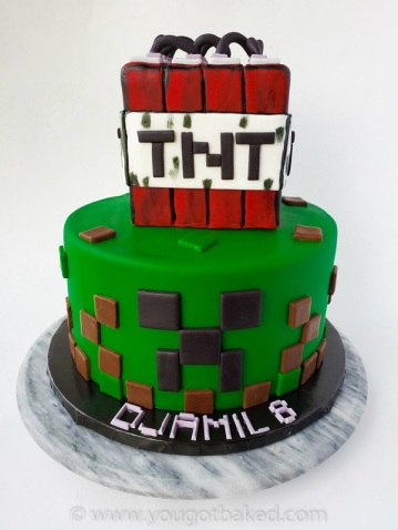 Amazing Minecraft Birthday Cake You Got Baked Birthday Cards Printable Giouspongecafe Filternl