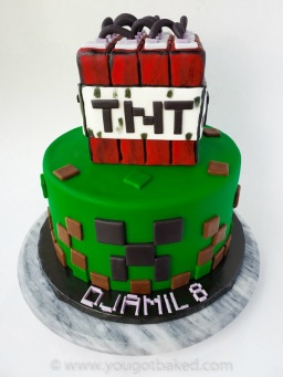 Astonishing Minecraft Birthday Cake You Got Baked Funny Birthday Cards Online Fluifree Goldxyz