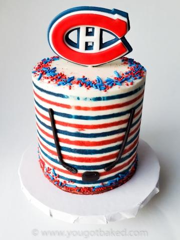 Retro Thin Stripe Habs Cake - Nov 2019 (3)