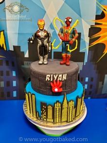 Spiderman & Iron Man Birthday Cake - Party (1)
