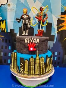 Spiderman & Iron Man Birthday Cake - Party (2)
