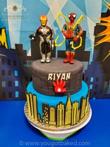 Spiderman & Iron Man Birthday Cake - Party (3)