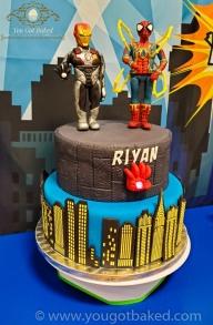 Spiderman & Iron Man Birthday Cake - Party (4)